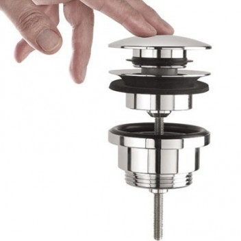 Válvula Roca de lavabo/ bidé click-clack cromo